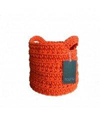 Koszyk z uszami ze sznurka MOTARNIA - pomarańczowy