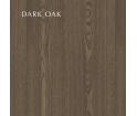 Lustro z szafką i półką One More Look UMAGE - dark oak, bordowe