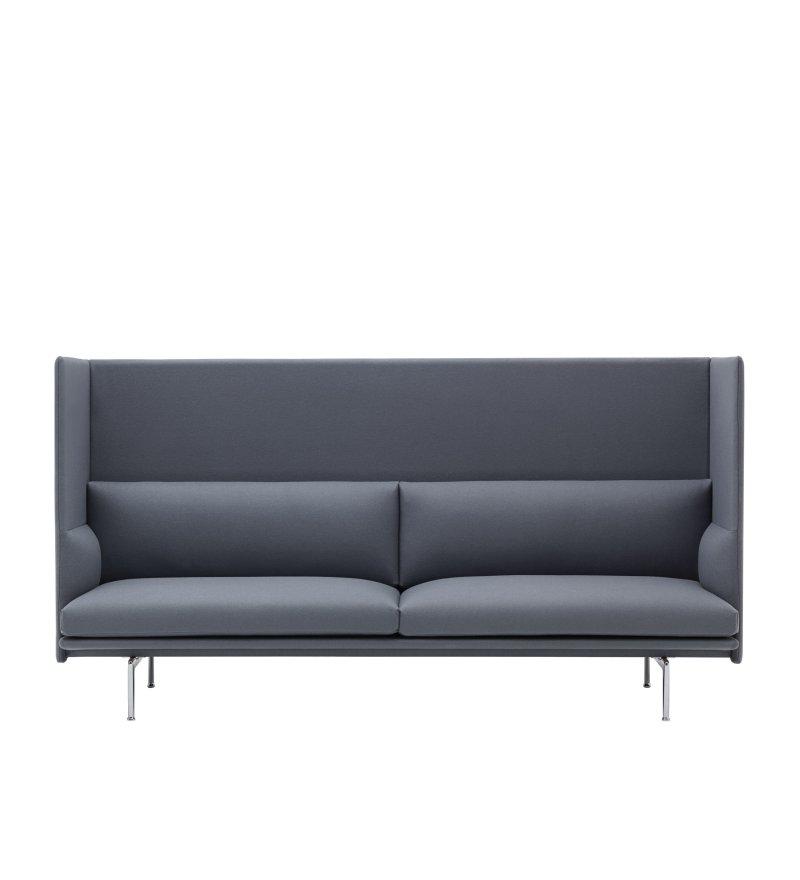 Sofa 3-osobowa OUTLINE HIGHBACK MUUTO - aluminiowa podstawa, różne kolory