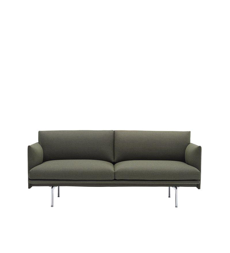 Sofa 2-osobowa OUTLINE MUUTO - aluminiowa podstawa, różne kolory