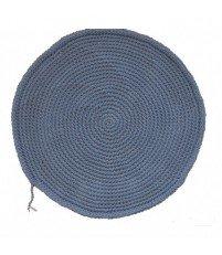Okrągły dywan dziergany z bawełnianego sznurka MOTARNIA - śr. 100 cm