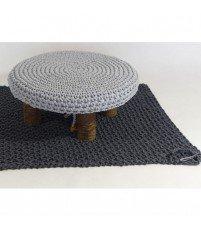 Prostokątny dywanik dziergany z bawełnianego sznurka MOTARNIA