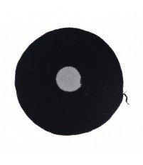 Okrągły dywan dziergany z bawełnianego sznurka MOTARNIA - śr. 120 cm