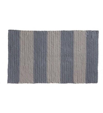 Prostokątny dywan dziergany w pasy MOTARNIA