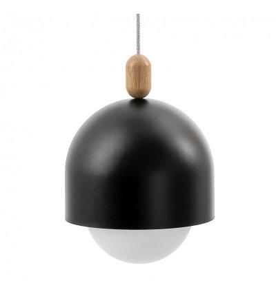 Lampa wisząca Loft Ovoi Mega czarna z kablem w oplocie - różne kolory