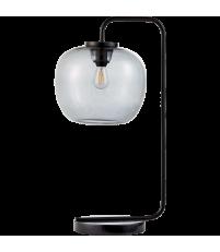Lampa biurkowa Grape Bolia - smoke grey / czarne ramię
