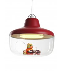 Lampa wisząca Favorite Things ENOstudio - czerwona - średnica 43cm