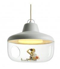 Lampa wisząca Favorite Things ENOstudio - biała, średnica 43cm