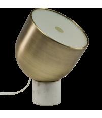 Lampa stołowa Faro Bolia - biały marmur/matowy mosiądz