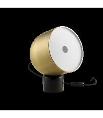 Lampa stołowa Faro Bolia - czarny marmur/matowy mosiądz