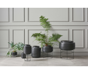 Doniczka Botanique Bolia - Ø22,4 cm, szara/czarna