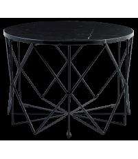 Stolik kawowy Vitro Bolia - marmurowy, Ø60 cm, czarny