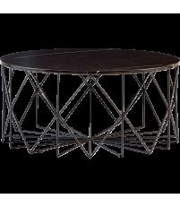 Stolik kawowy Vitro Bolia - marmurowy, Ø90 cm, czarny
