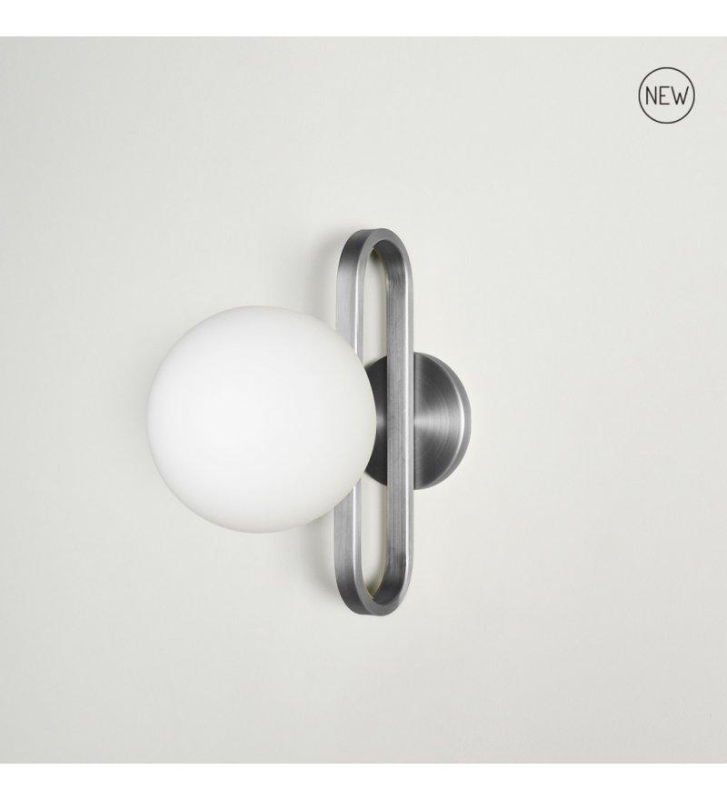 Kinkiet Cime ENOstudio - średnica 20 cm, srebrny