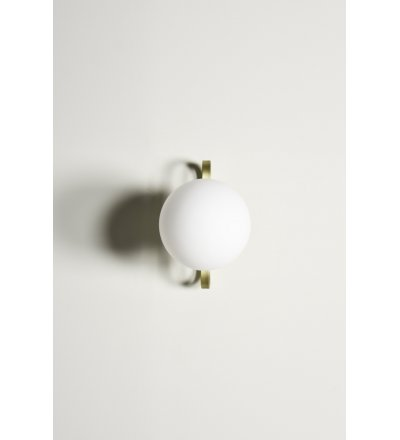 Kinkiet zewnętrzny Cime ENOstudio - średnica 20 cm, mosiądz