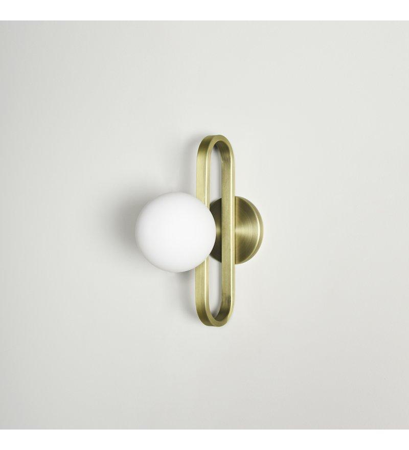 Kinkiet Cime ENOstudio - średnica 12 cm, mosiądz