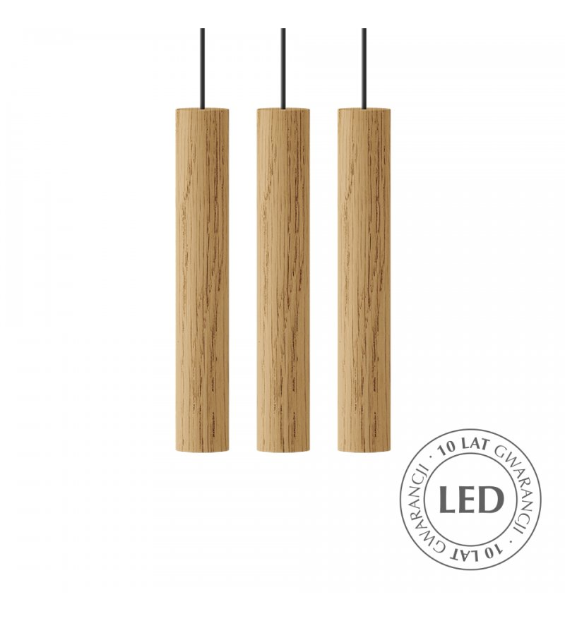 Lampa Chimes Cluster 3 oak UMAGE - naturalny dąb
