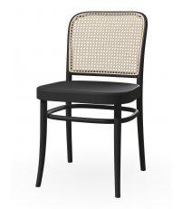 Krzesło gładkie z oparciem rattanowym 811 TON - buk