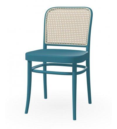Krzesło gładkie z oparciem rattanowym 811 TON - buk, kolory pigmentowe