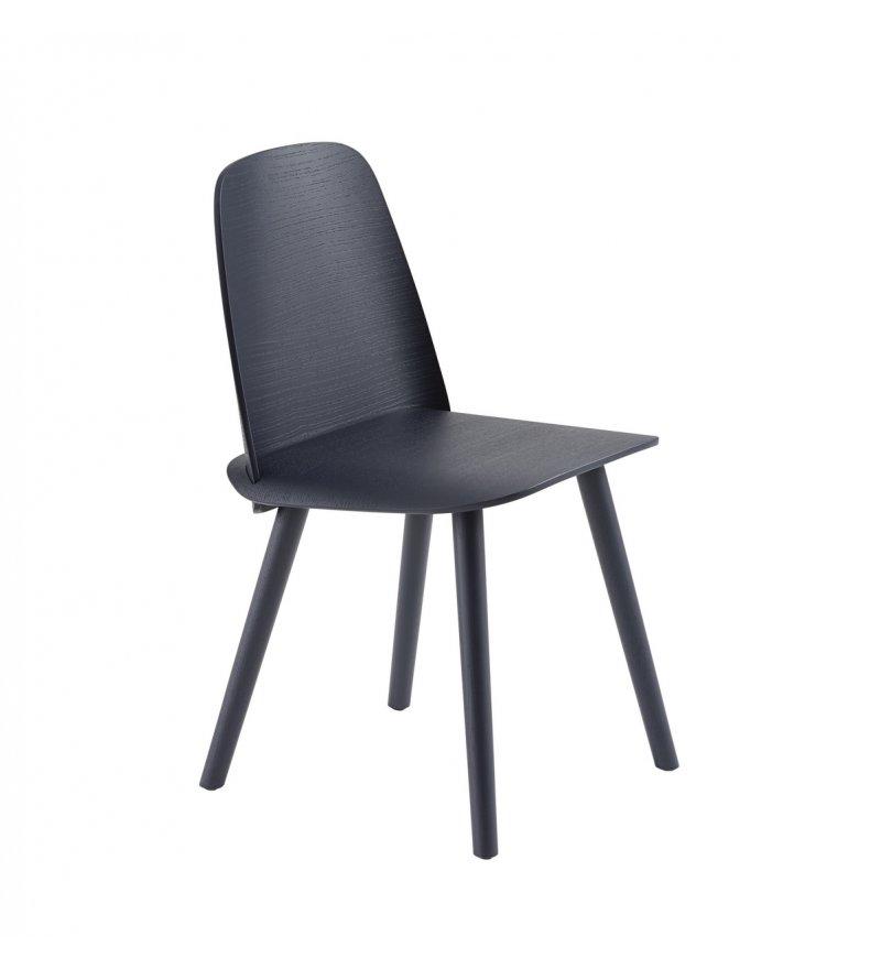 Krzesło drewniane NERD Muuto - midnight blue