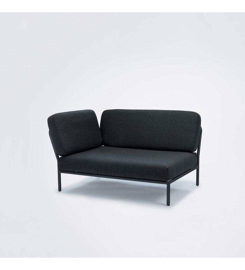 Sofa modułowa ogrodowa lewa Level HOUE - Sooty Grey / Sunbrella, na zewnątrz