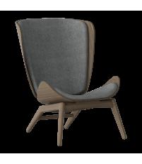 Fotel The Reader UMAGE - dark oak, tapicerowanie tkaninami Kvadrat