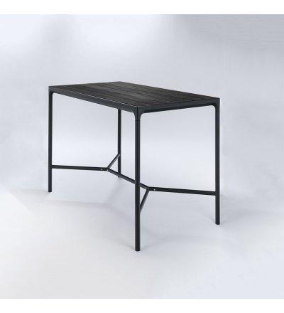 Stół barowy FOUR HOUE - 160x90cm, czarny, na zewnątrz