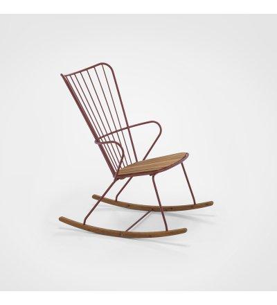 Krzesło bujane PAON Rocking Chair HOUE - z bambusowym siedziskiem, różne kolory ramy, na zewnątrz