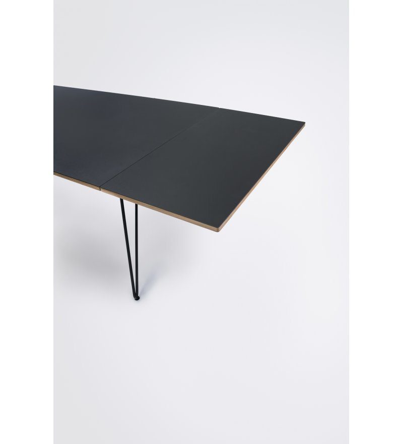 Płyta przedłużająca stół jadalniany SKETCH HOUE - 50x95cm, czarna