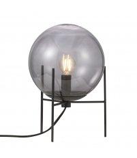 Lampa stołowa Alton Nordlux - czarna, przydymione szkło