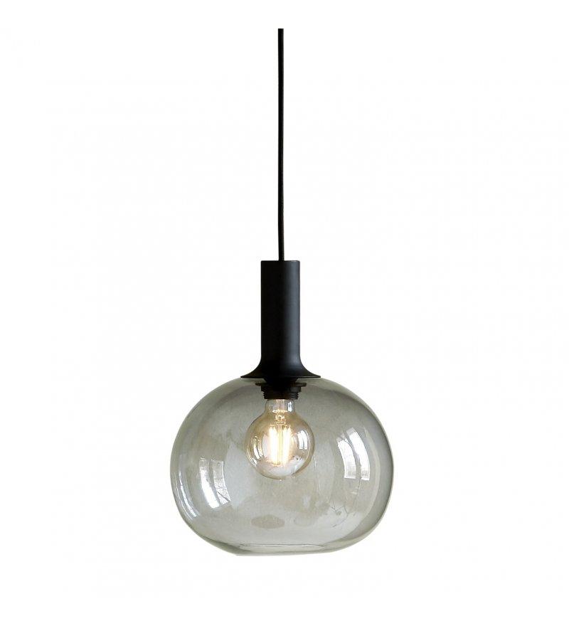 Lampa wisząca Alton 25 Nordlux - przydymione szkło, czarna