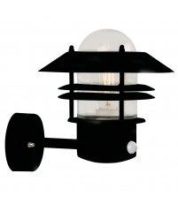 Kinkiet Blokhus Sensor Nordlux - czarny, z czujnikiem, na zewnątrz