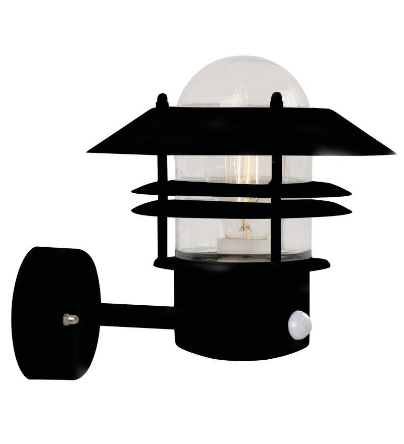 Kinkiet Blokhus Sensor Nordlux - czarny, z czujnikiem ruchu, na zewnątrz