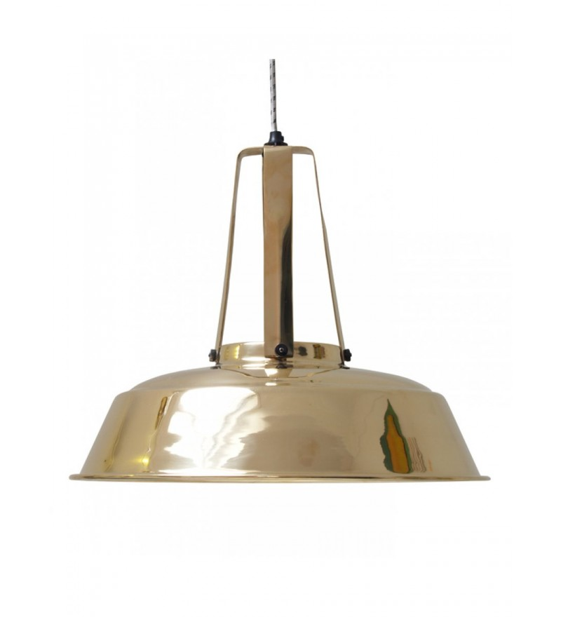 Przemysłowa emaliowana lampa Workshop L HK LIVING - mosiądz