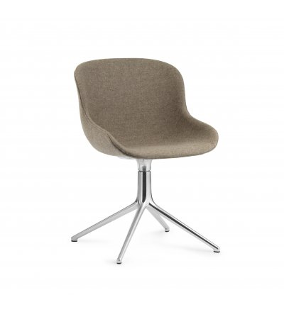 Krzesło tapicerowane HYG CHAIR SWIVEL 4L Alu Normann Copenhagen - różne kolory, aluminiowa podstawa
