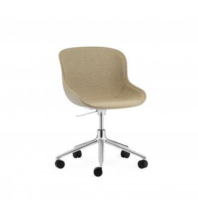 Krzesło tapicerowane HYG CHAIR FRONT SWIVEL 5W Gaslift Alu Normann Copenhagen - różne kolory, aluminiowa podstawa