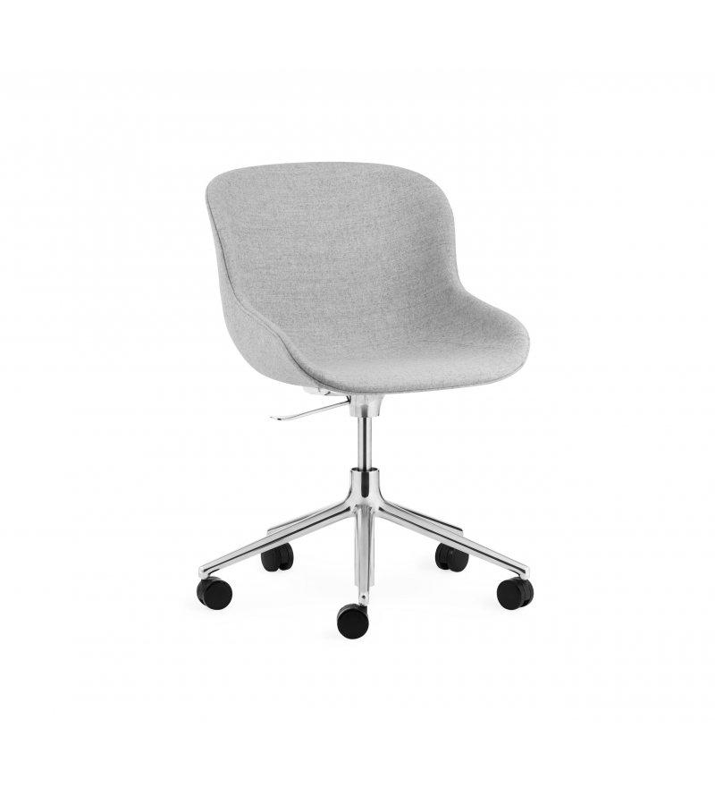 Krzesło tapicerowane HYG CHAIR SWIVEL 5W Gaslift Alu Normann Copenhagen - różne kolory, aluminiowa podstawa