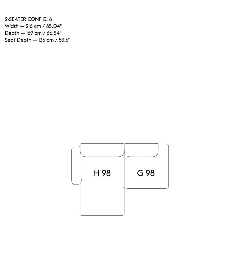 Sofa 2-osobowa IN SITU MUUTO - konfiguracja 6