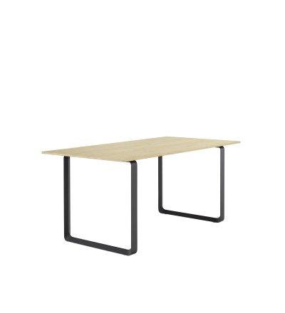 Stół 70/70 Muuto - 85 x 170 cm, lita dębina/ różne kolory podstawy