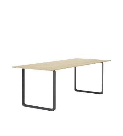 Stół 70/70 Muuto - 90 x 225 cm, lita dębina/ różne kolory podstawy