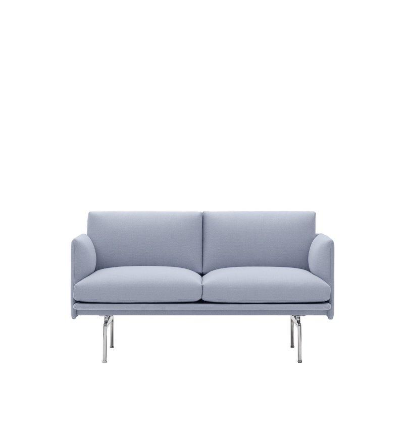 Sofa Studio 140 cm OUTLINE MUUTO - aluminiowa podstawa, wysokość siedzenia 45cm, różne kolory