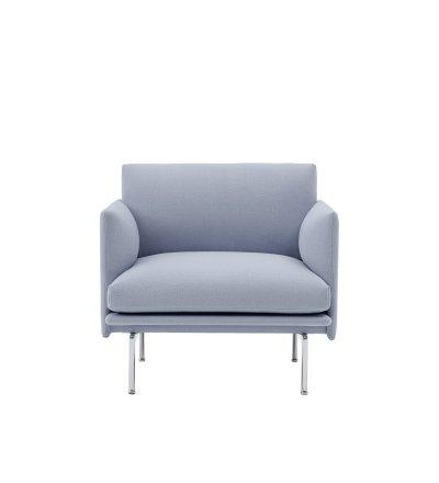 Fotel tapicerowany Studio OUTLINE CHAIR MUUTO - aluminiowa podstawa, różne kolory