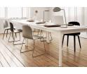 Krzesło drewniane na stalowych nogach VISU CHAIR Muuto