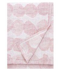 Lniany ręcznik kąpielowy SADE Lapuan Kankurit -  95 x 180 cm, bladoróżowy