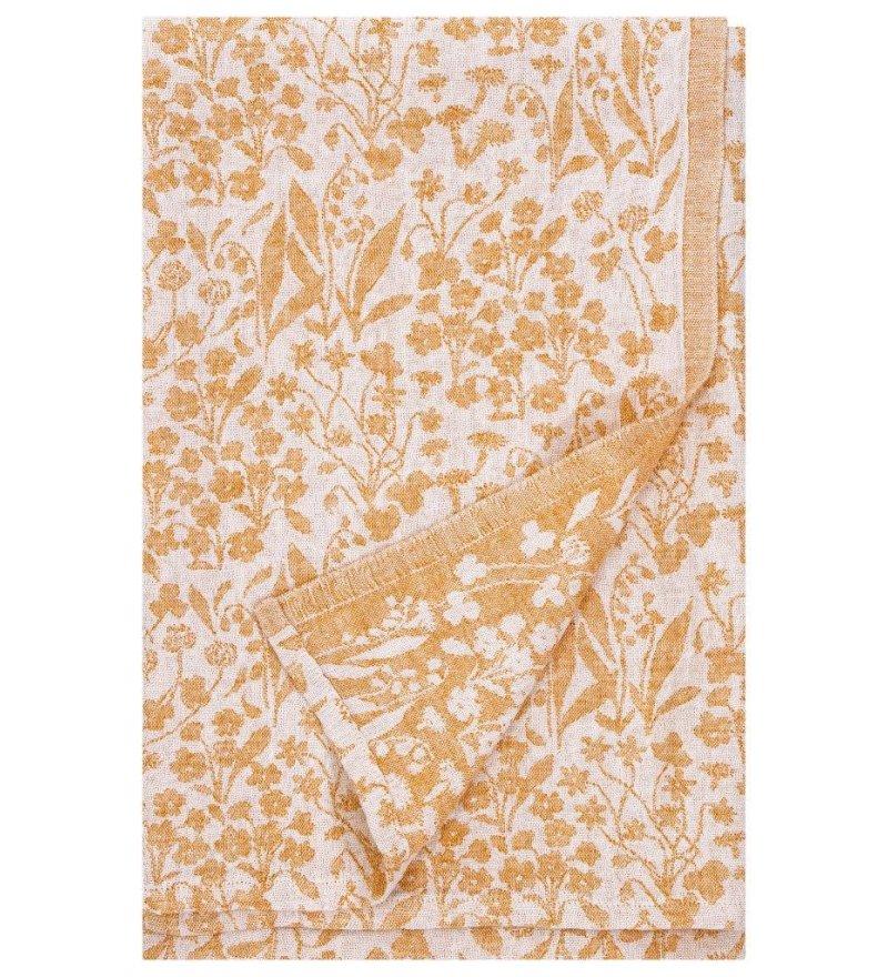 Lniany ręcznik kąpielowy NIITTY Lapuan Kankurit -  95 x 150 cm, rdzawy