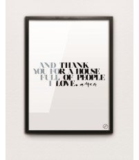 Plakat AMEN MM House Design - różne rozmiary