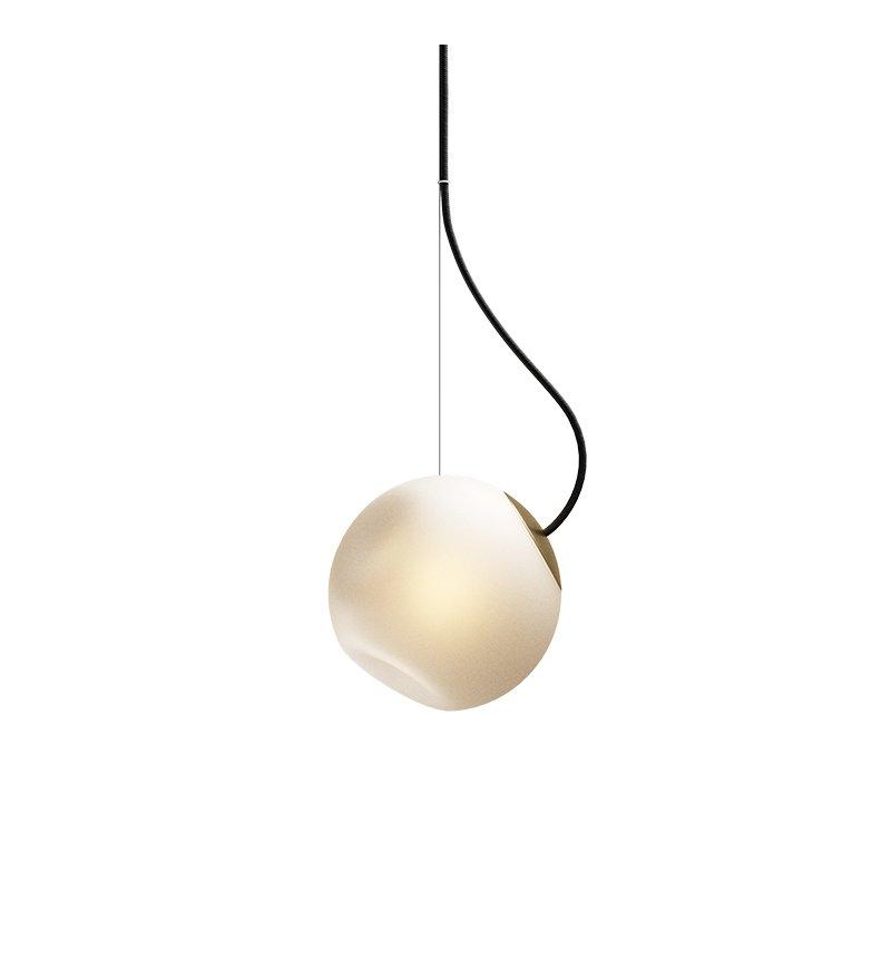 Lampa Bright Barocco Nordic Tales - mosiądz + czarny przewód