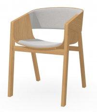OUTLET Fotel tapicerowany Merano TON - dąb olejowany, tkanina Softlen 021