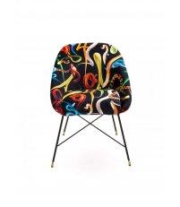 Krzesło tapicerowane Seletti - wzór Snakes