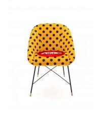 Krzesło tapicerowane Seletti - wzór Shit